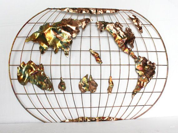 Vintage metal world map wall hanging 22 by thirdhandshoppe on etsy vintage metal world map wall hanging 22 by thirdhandshoppe on etsy gumiabroncs Images