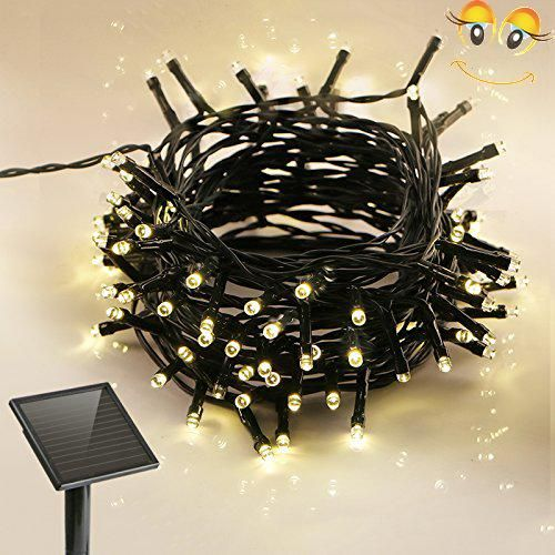 KooPower 100 LED Solar Outdoor Fairy String Lights 8 Modes with