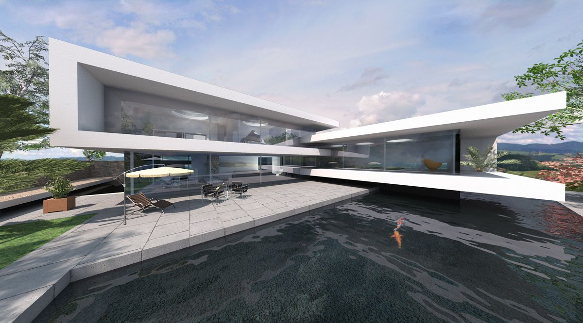 Pin by manthos matheakis on city achitecture moderne for Haus bauen moderne architektur