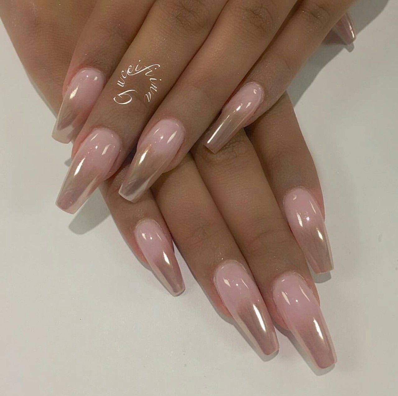 chrome tips - nails