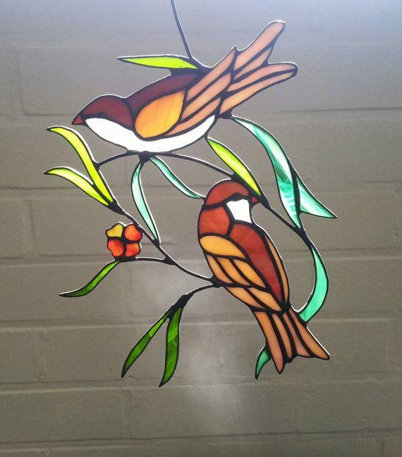 Resultado de imagen para simple stained glass panels | Oiseau ...