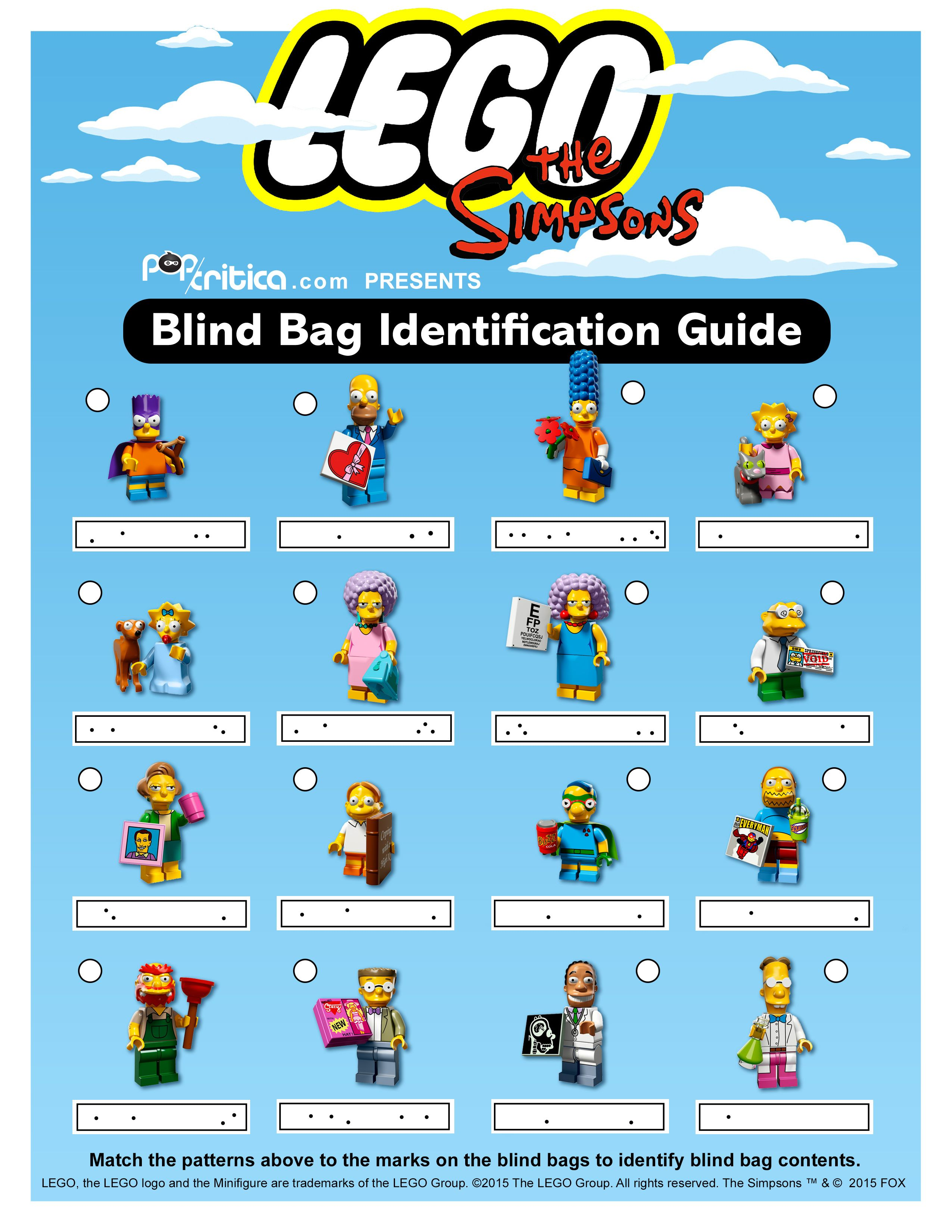 lego minifigures series 14 dot code