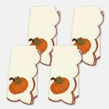 Celebrate+Fall+Together+Pumpkin+Cutout+4-pc.+Napkin+Set