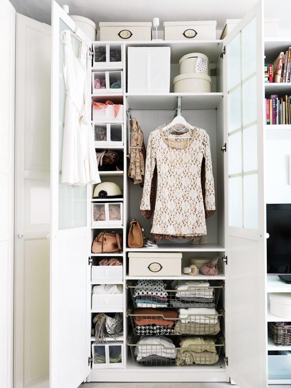 Closet armario closet projeto quarto empregada - Interior de armarios ikea ...