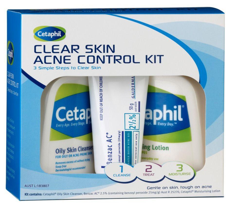 Cetaphil Skin Acne Control Kit Rosacea Skin Care Acne Gel