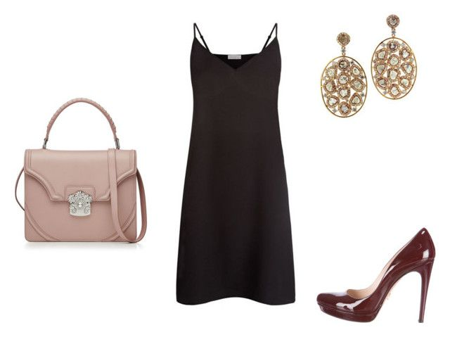 """""""Sem título #348"""" by ahazzastyles ❤ liked on Polyvore featuring Prada, Sandro and Alexander McQueen"""