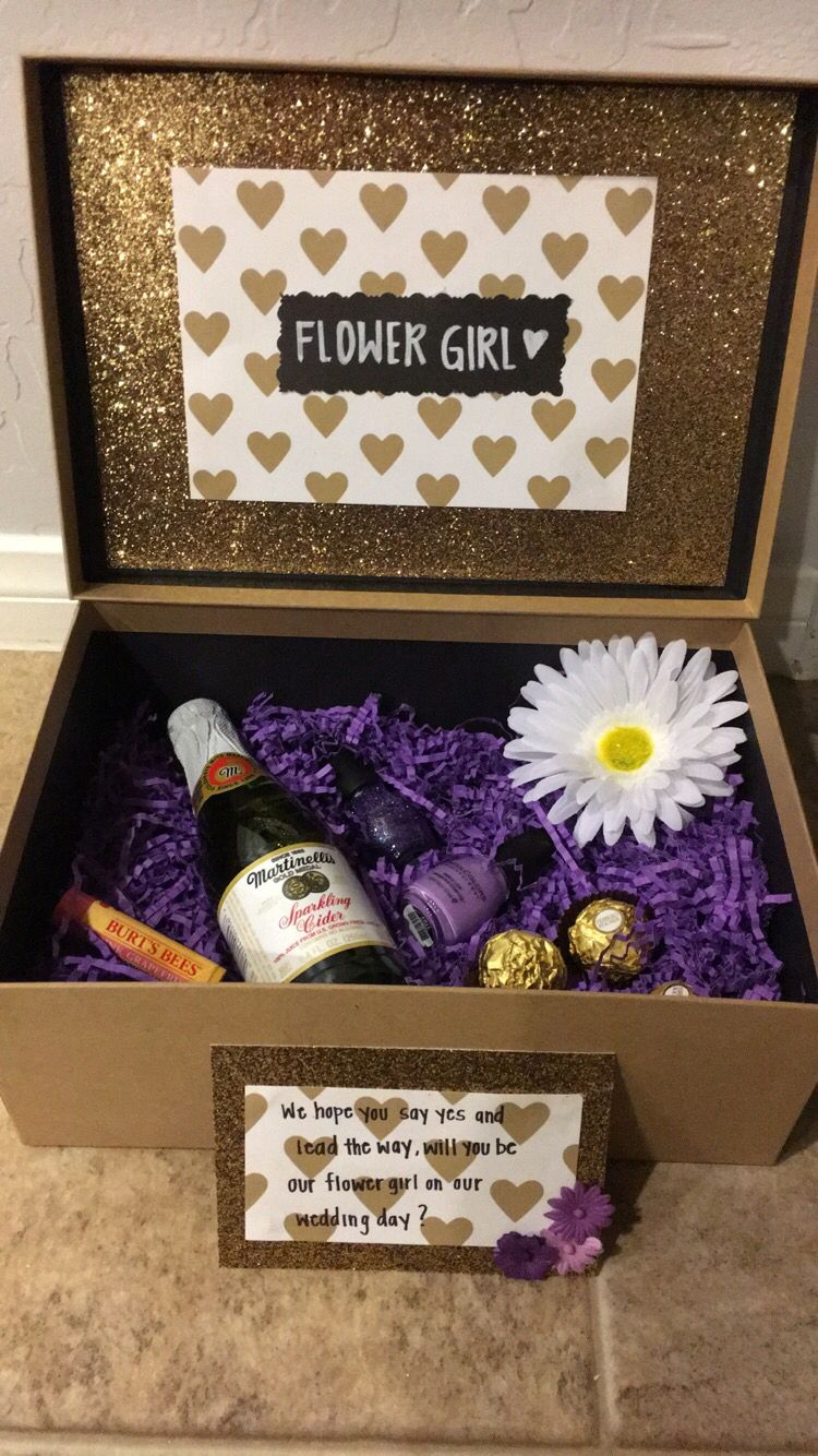 Flower girl proposal Bridesmaid proposal gifts, Gifts