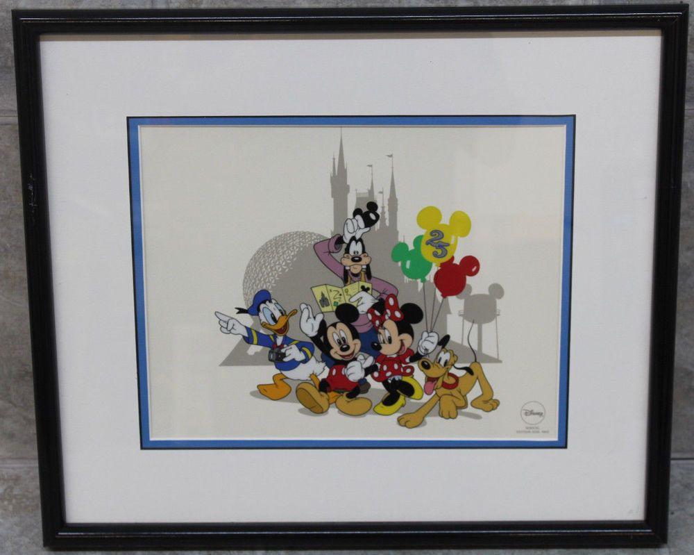 WDW 25th Anniversary/A 12K2WDW020 Walt Disney World Framed Picture ...