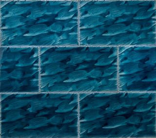 Little Fishes - eclectic - tile - seattle - by Living Walls