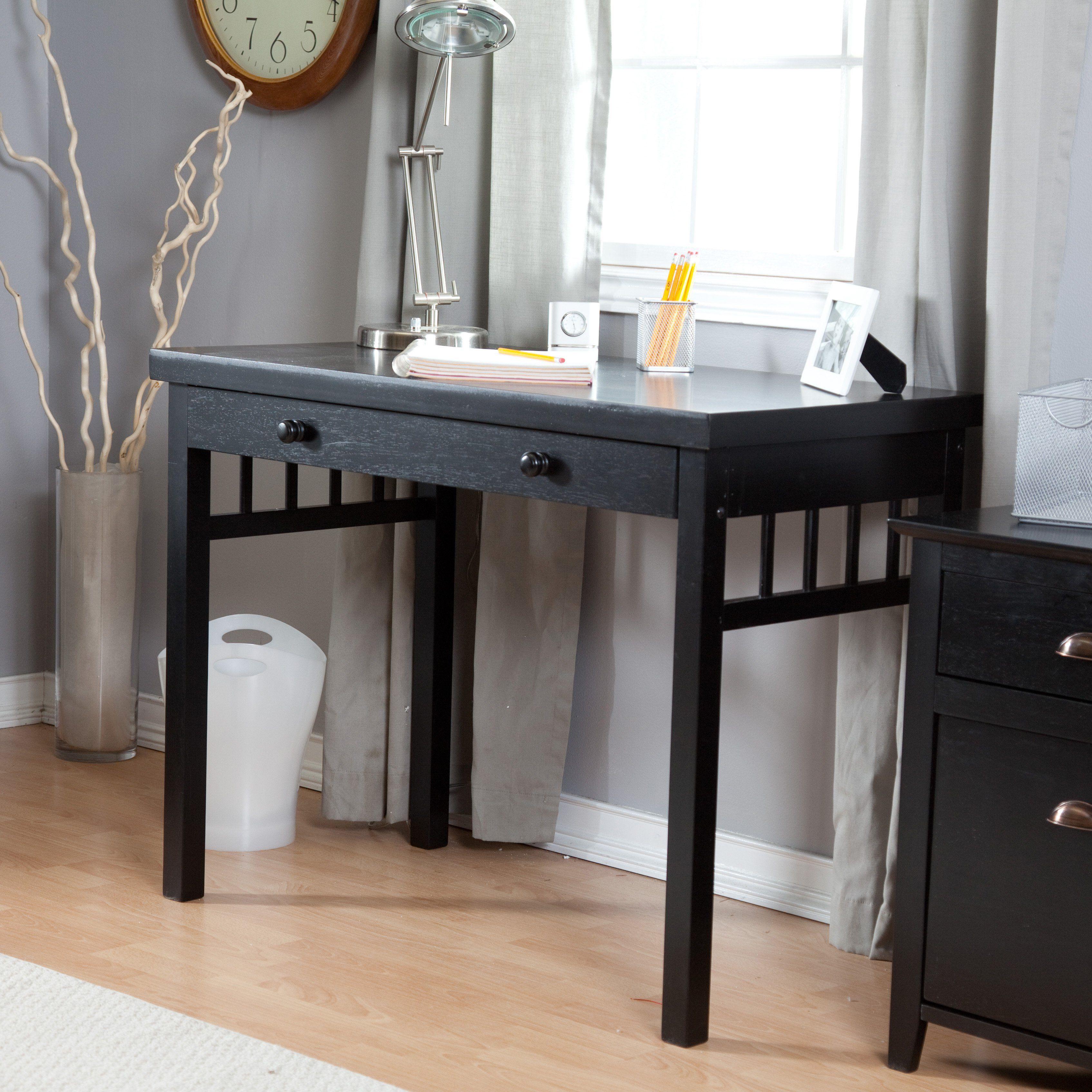 Small Mission Writing Desk Black Black Desk Home Office Furniture Black Writing Desk
