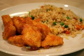 Lazy Gluten Free: Baked Sweet & Sour Chicken with Fried Rice
