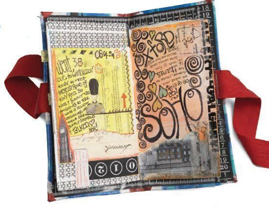 Going to try this > Making an Art Journal: Getting Started by Dawn Devries S. Okol, at ClothPaperScissors.com. #artjournal #mixedmedia