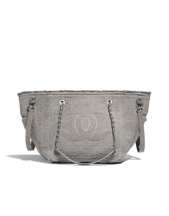 Chanel Gray Fabric Double Face Small Shopping Bag  d47c38784e148