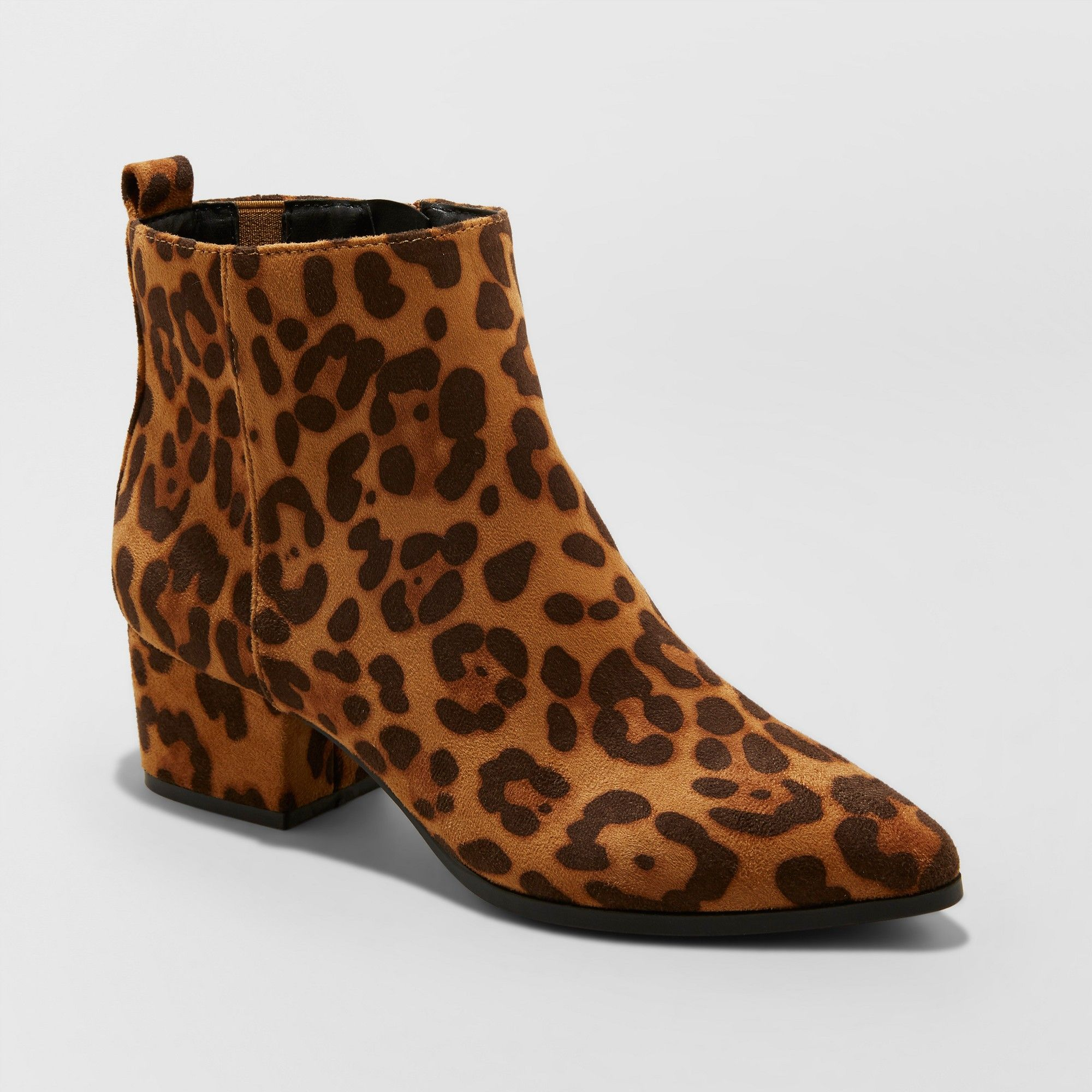 341a955680c8 Women's Valerie Microsude Leopard Print Wide Width City Ankle Fashion Boots  - A New Day 5W