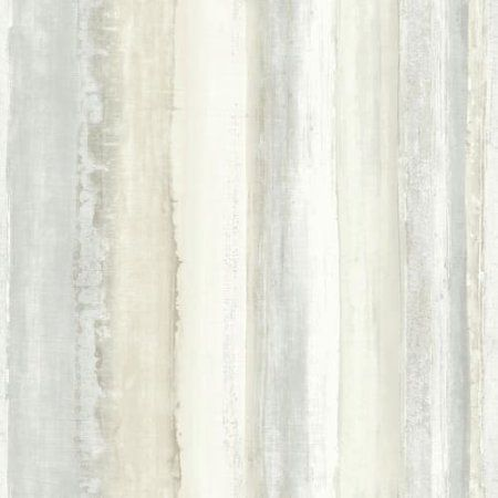 Roommates Tan Watercolor Stripe Peel Stick Wallpaper Walmart Com Acuarela Hogar Y Familia Rollos