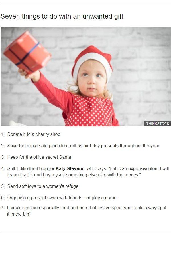 Regifting christmas games