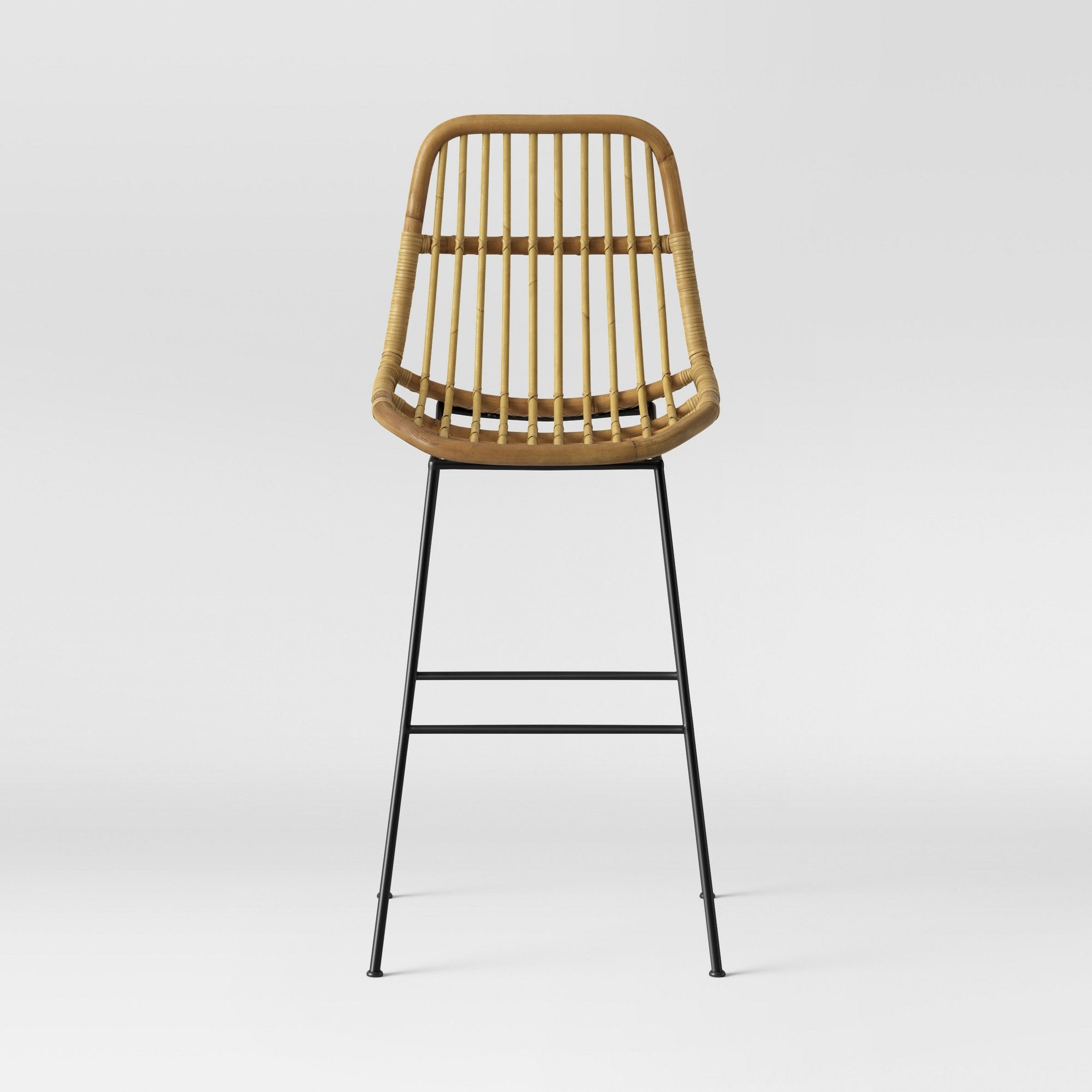 Groovy Opalhouse Linnet Rattan With Metal Legs Barstool Light Caraccident5 Cool Chair Designs And Ideas Caraccident5Info