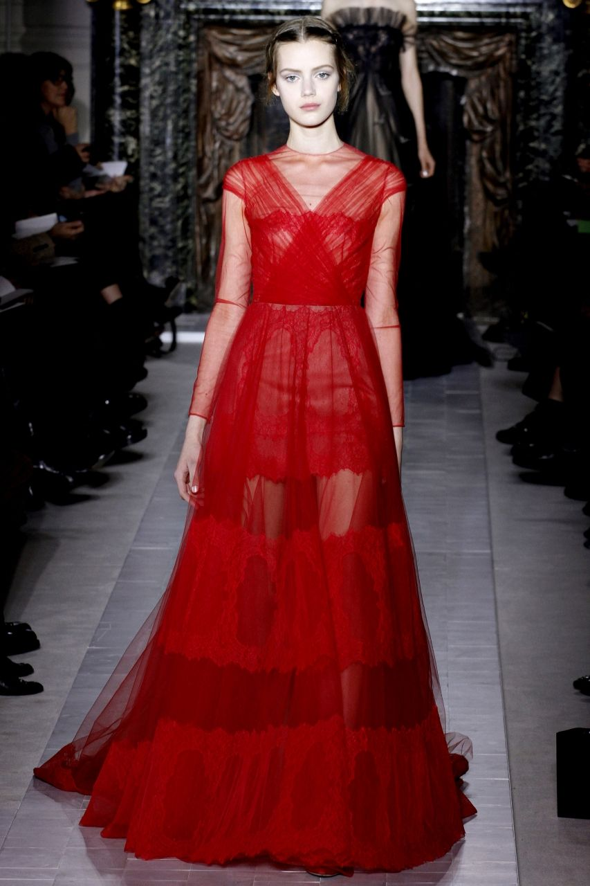 Valentino long red organza dress dresses dress formal wedding