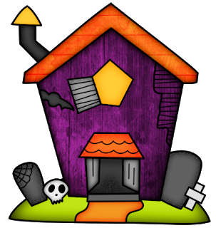 Halloween Haunted Houses Clipart. Haunted house clipart