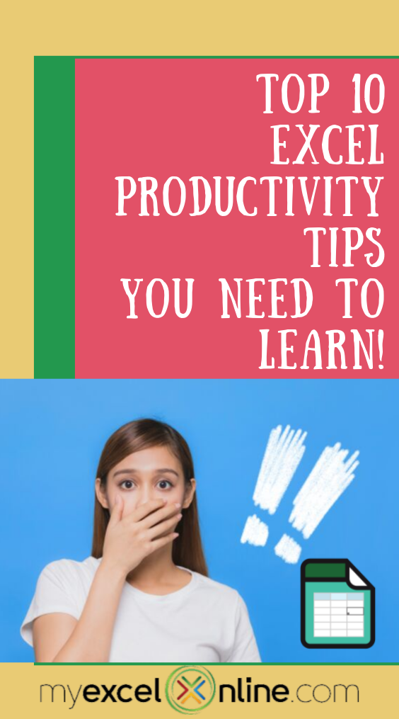 Top 10 Excel Productivity Tips Excel for beginners