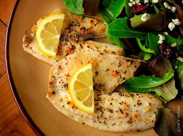 Broiled Tilapia with Garlic #fish #lent #lowfat #tilapia