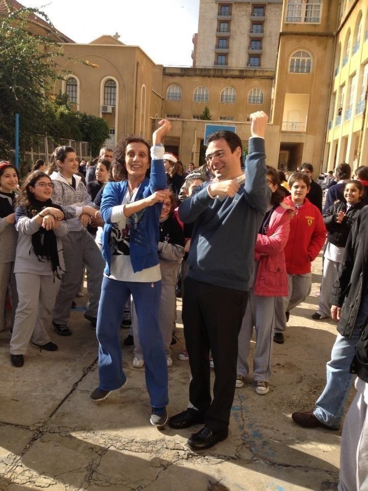 Nicola Sehnaoui dancing Gangnam Style in downtown Beirut