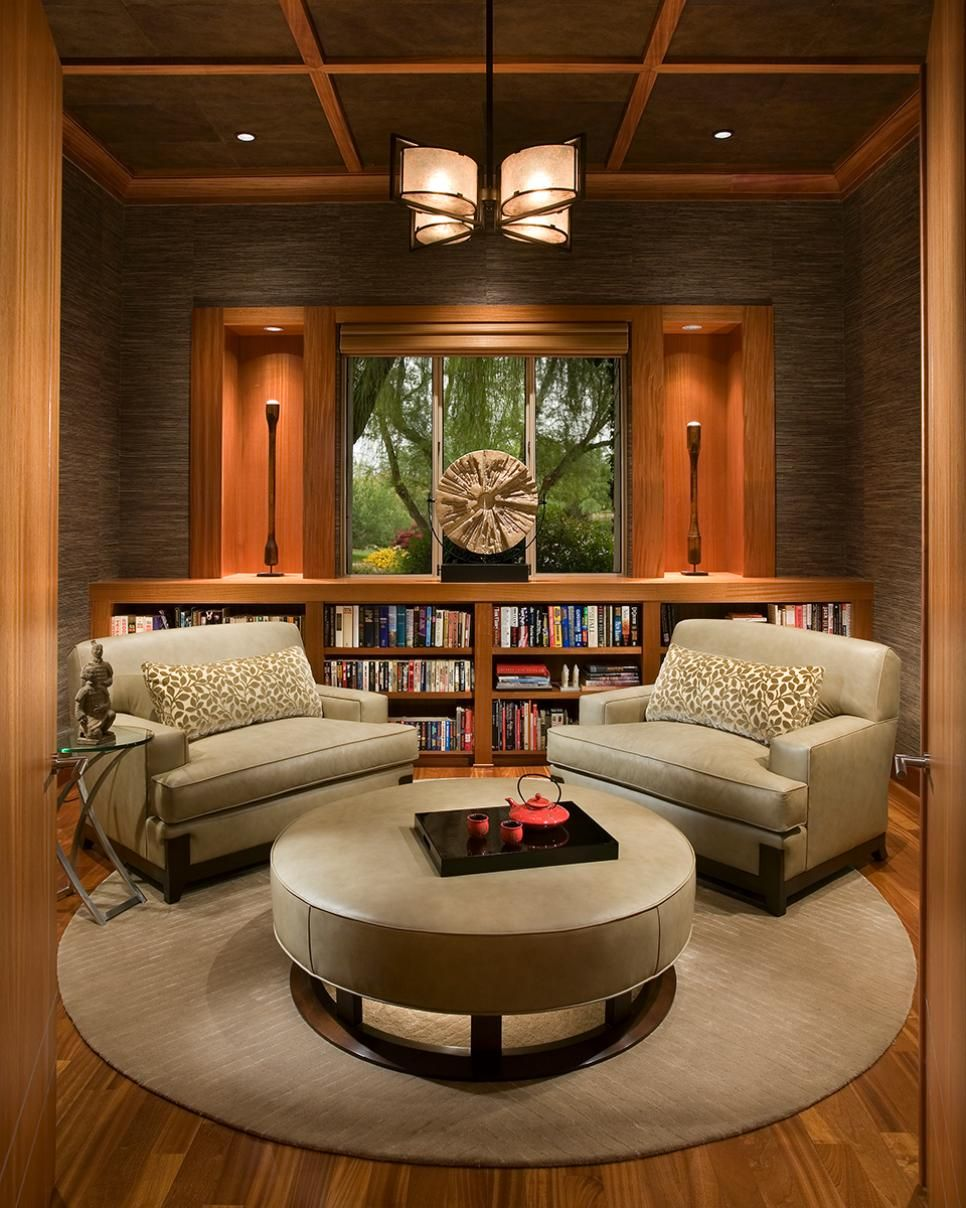 Family Room Library: Asian Living Rooms, Oriental Living Room