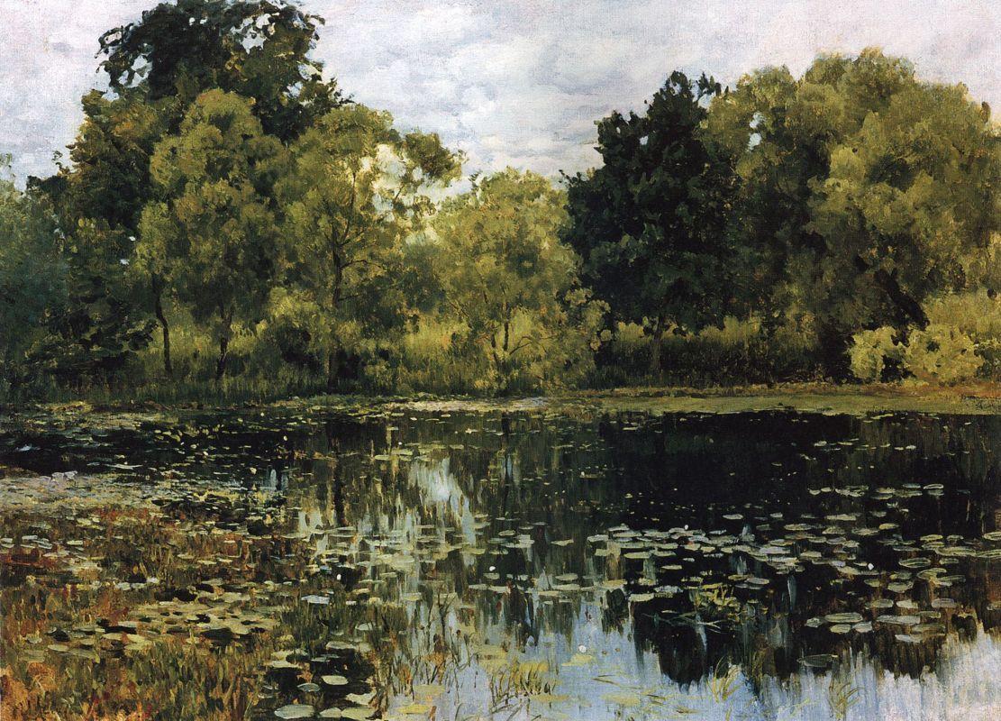 Картинки по запросу картина левитана заросший пруд