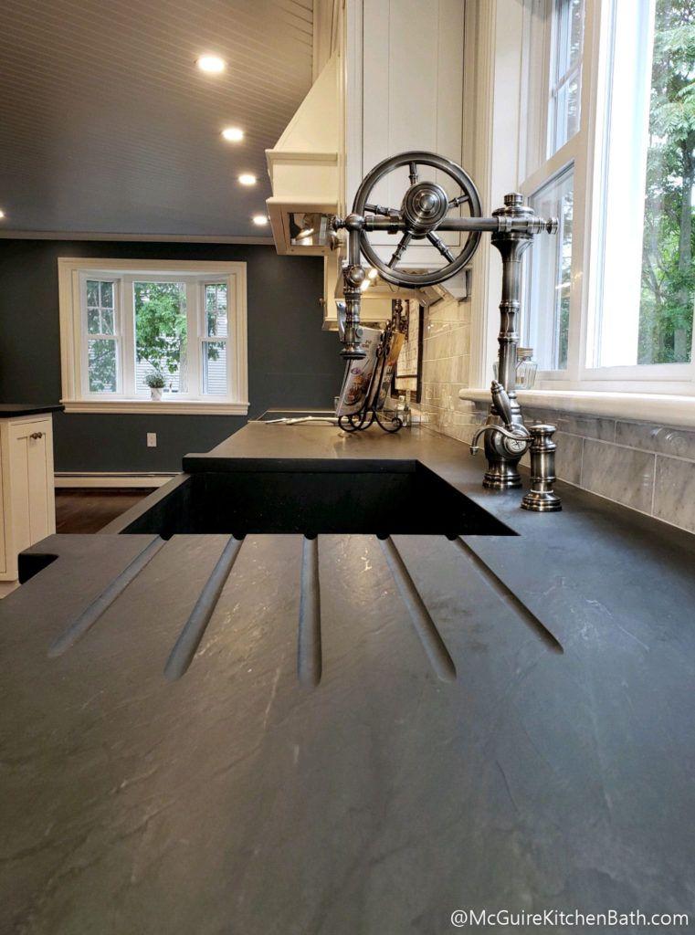 Farmhouse Kitchen Soapstone Countertop Modern Farmhouse Kitchens