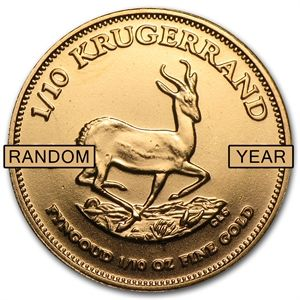 South Africa 1 10 Oz Gold Krugerrand Random Year Gold Krugerrand Gold Coins For Sale Gold Coins