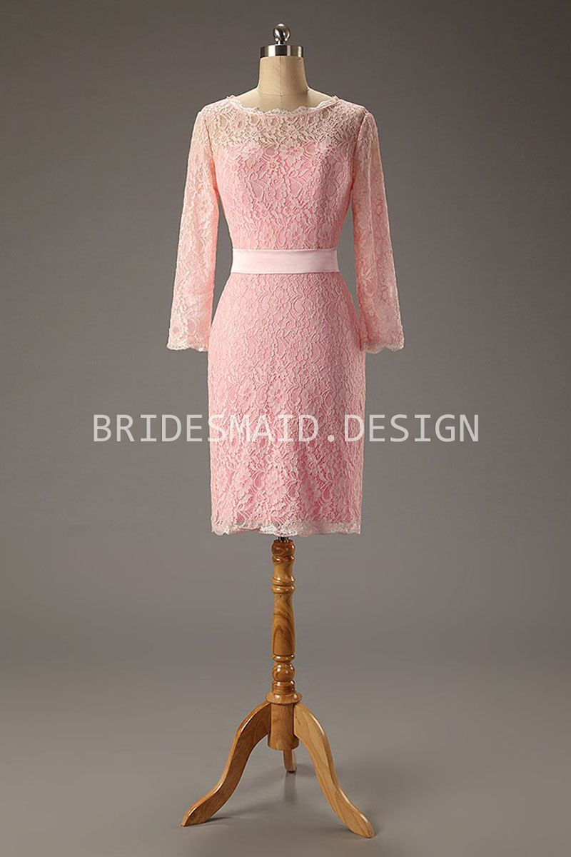 Pink lace illusions and bridesmaid dresses on pinterest