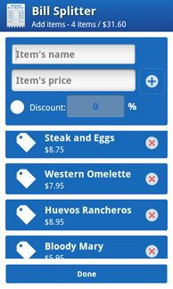 THIS IS AWESOME! - Use Advanced Bill Splitter To Accurately Divide Meal Costs At Dinner [Android]   image