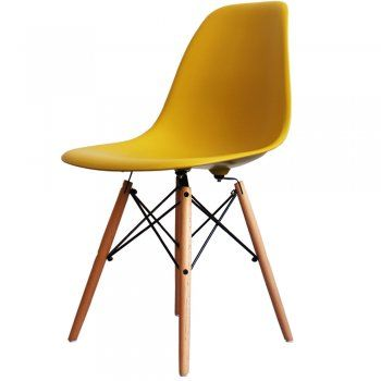 Buy Eames Style Yellow Plastic Retro Side Chair From Fusion Living
