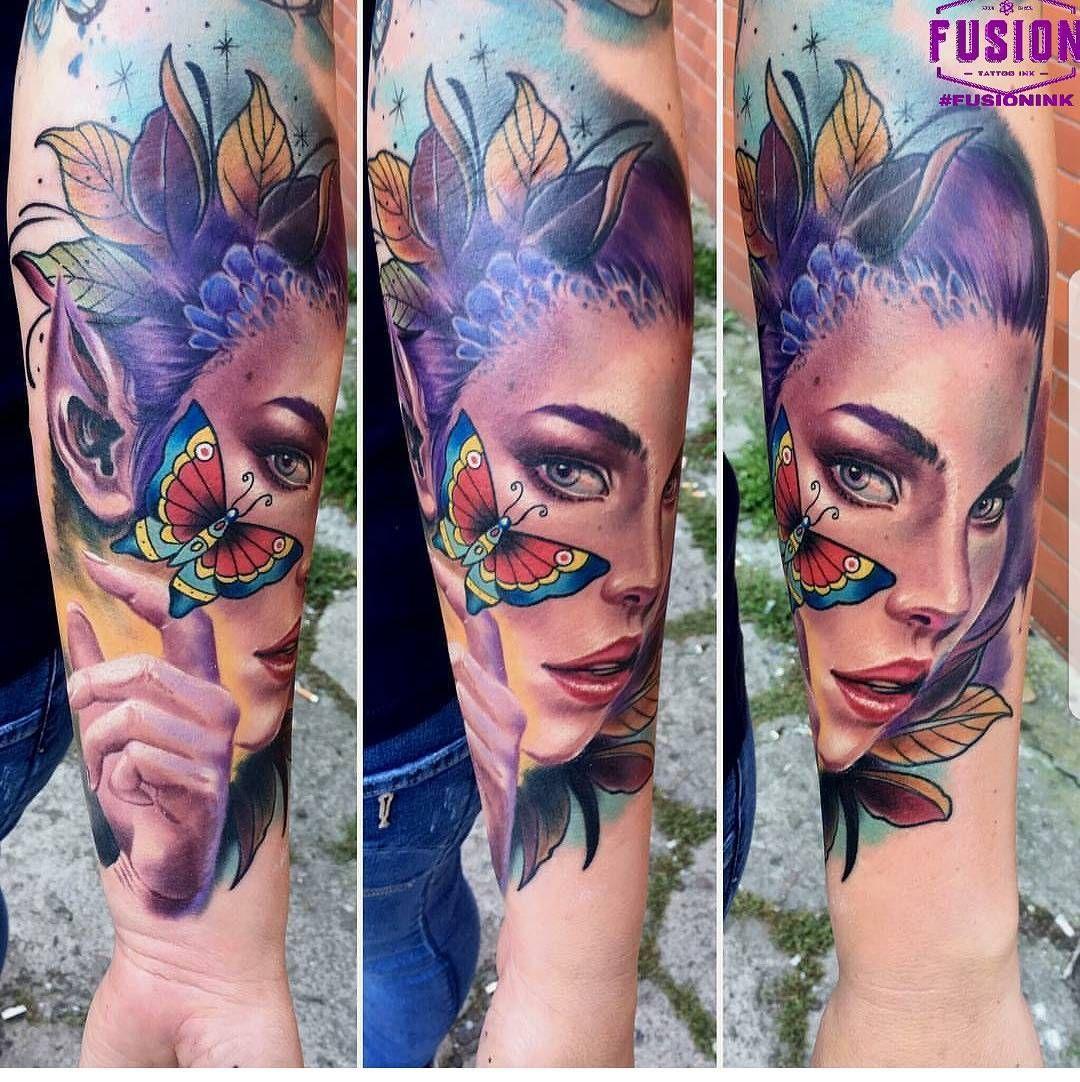 Awesome work by igisajtattoo using fusionink