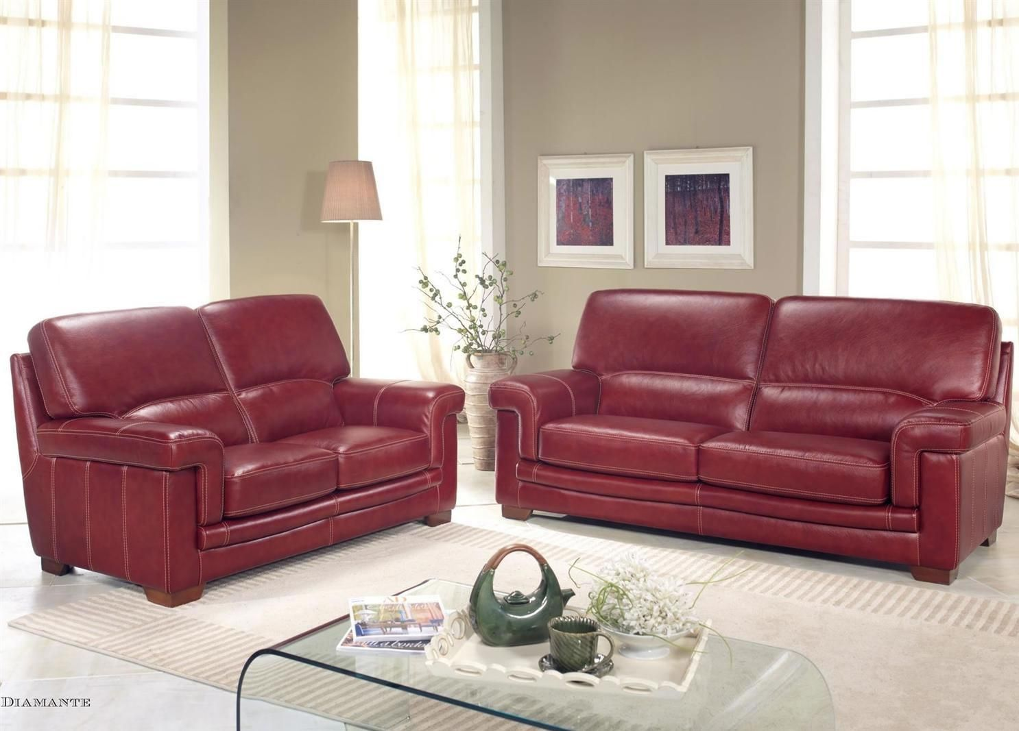 Bardi Diamante Leather Sofa Collection From George