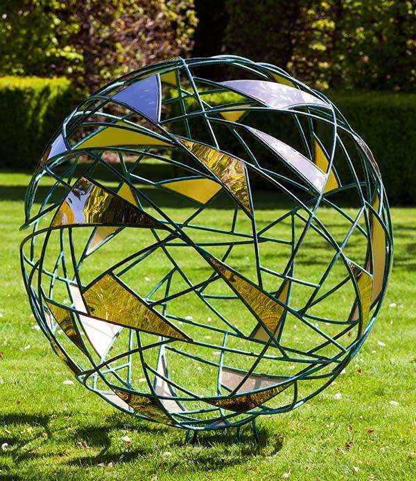 Garden Art Sculpture: Metal Garden Spheres David Harber