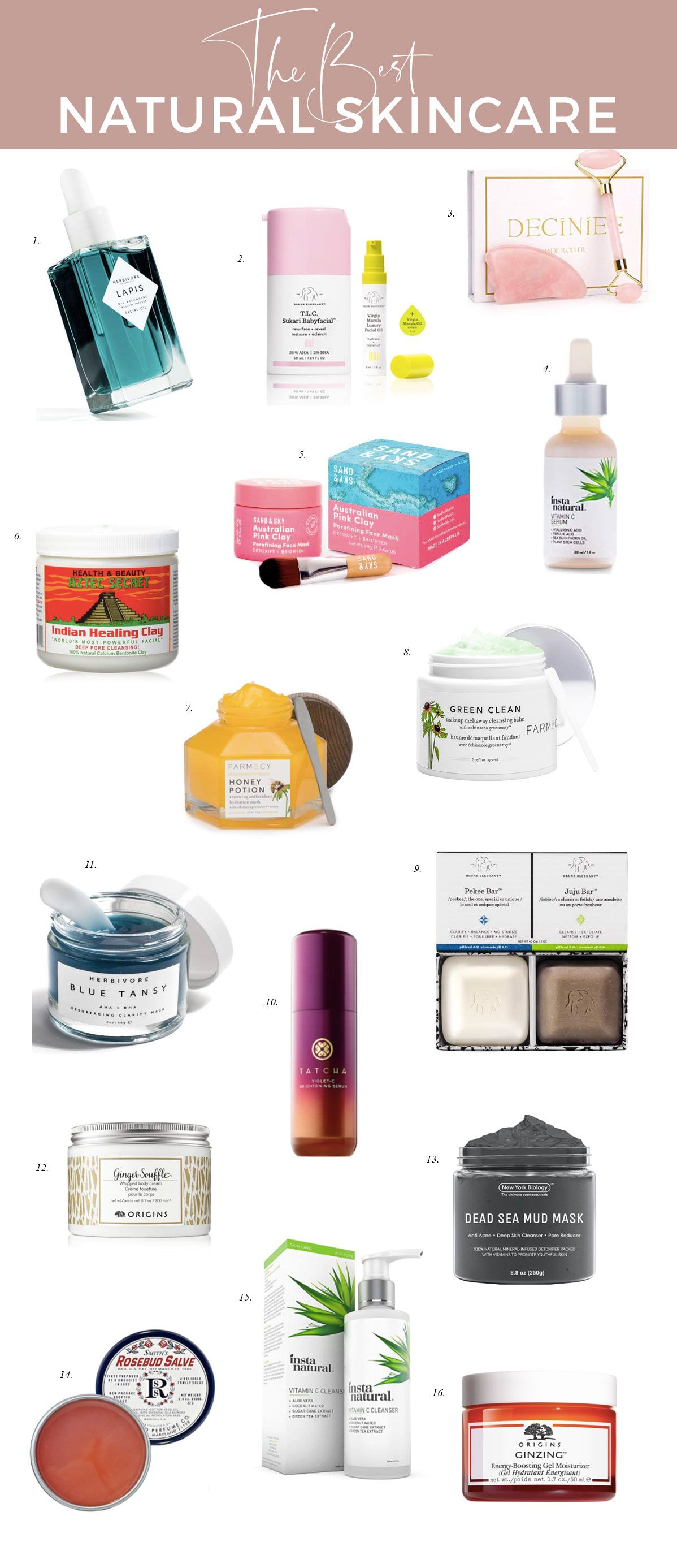 Friday Faves 16 Best Natural Skincare Products Natural Skin