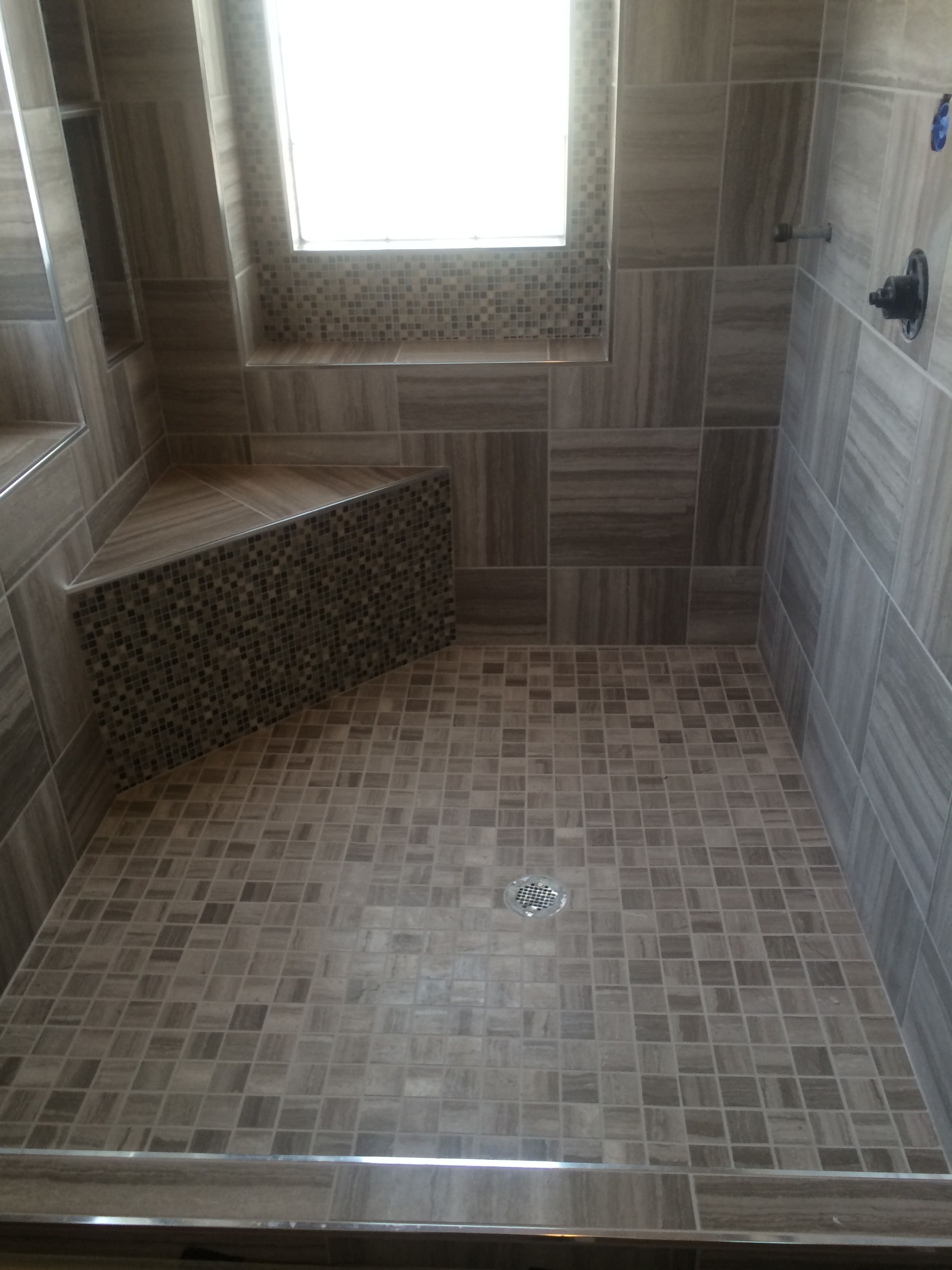 Captiva sterling 12x24 tile this is currently the tile selected master shower using vitromex tile and ebb flo mosaic tile dailygadgetfo Gallery