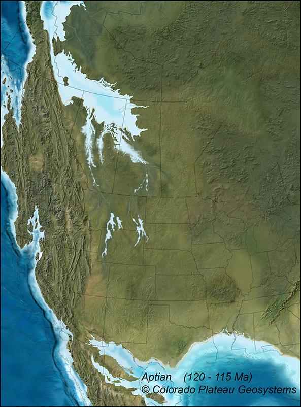 Western Interior Seaway 120 Ma Aptian