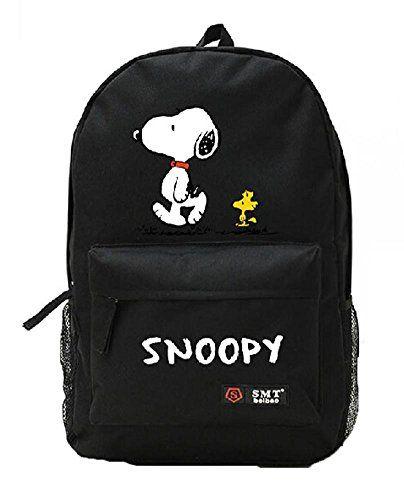 be965b6f2 Snoopy Unisex Cavans Student s School Bag Backpacks Leisure Bag Shoulder  Backpack (black) shoulder bag