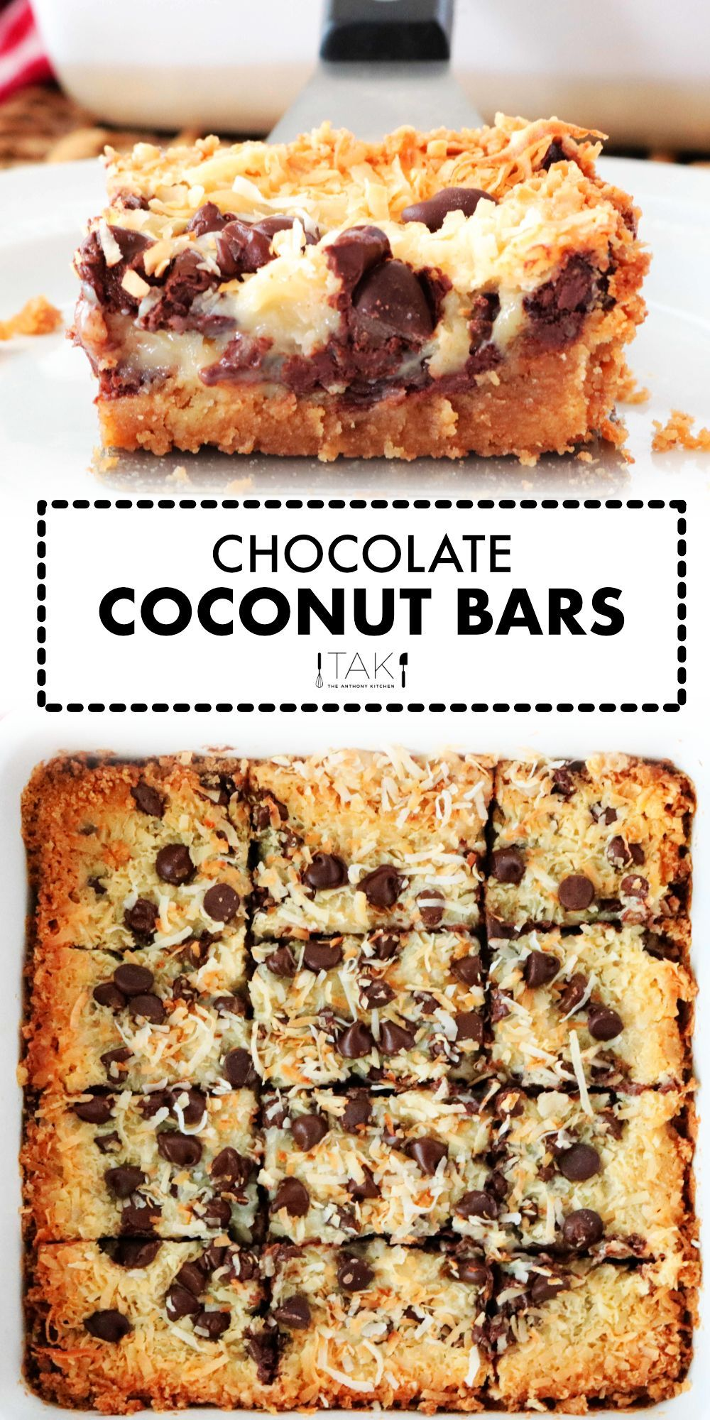 Chocolate Coconut Bars Recipe The Anthony Kitchen Recipe In 2020 Coconut Chocolate Bars Savory Dessert Coconut Desserts