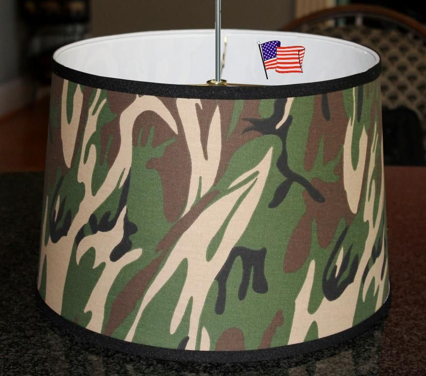 Camouflage Drum Swag Lamp 15 Quot W Swag Lamps Hanging Lamp