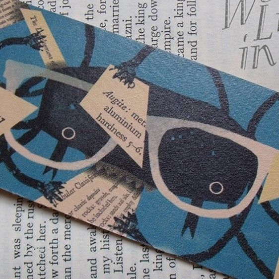 Leather Bookmark  The Incredible Book Eating by LesleyToast, £4.00