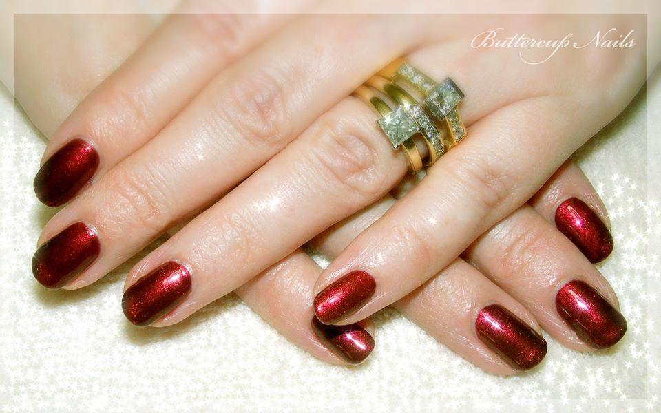 Classic Shellac in Crimson Sash Shellac nails, Shellac