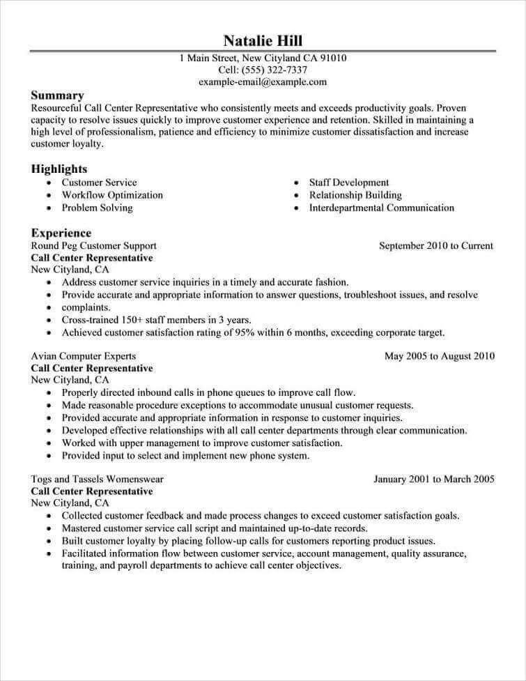 And Templates 4-Resume Examples Job resume examples, Good resume
