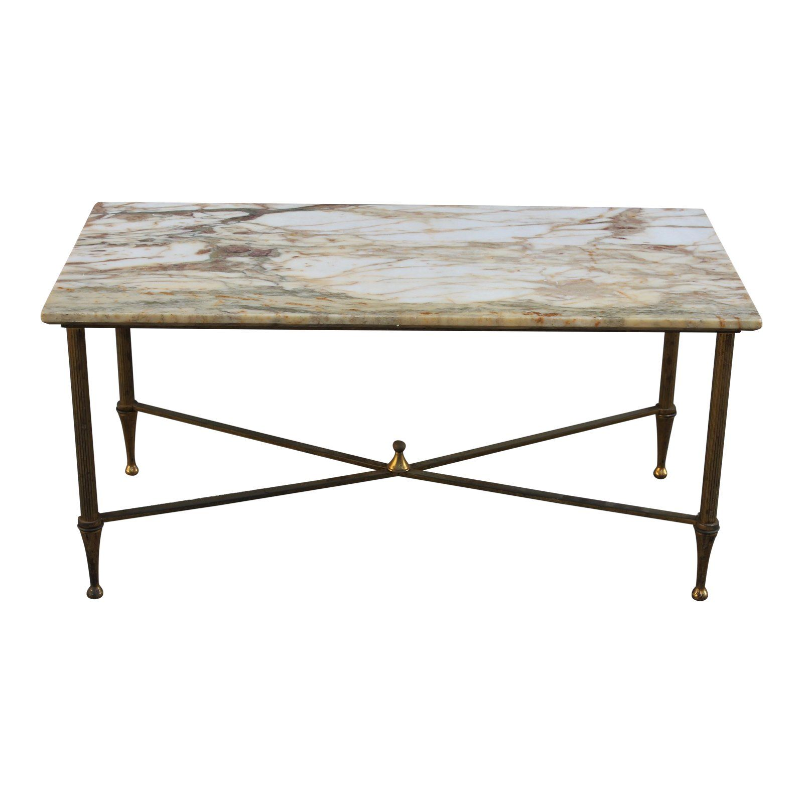 French Maison Jansen Coffee Or Cocktail Table Bronze Rectangular With Marble Top Circa 1940s Chairish Coffee Table Table Maison Jansen