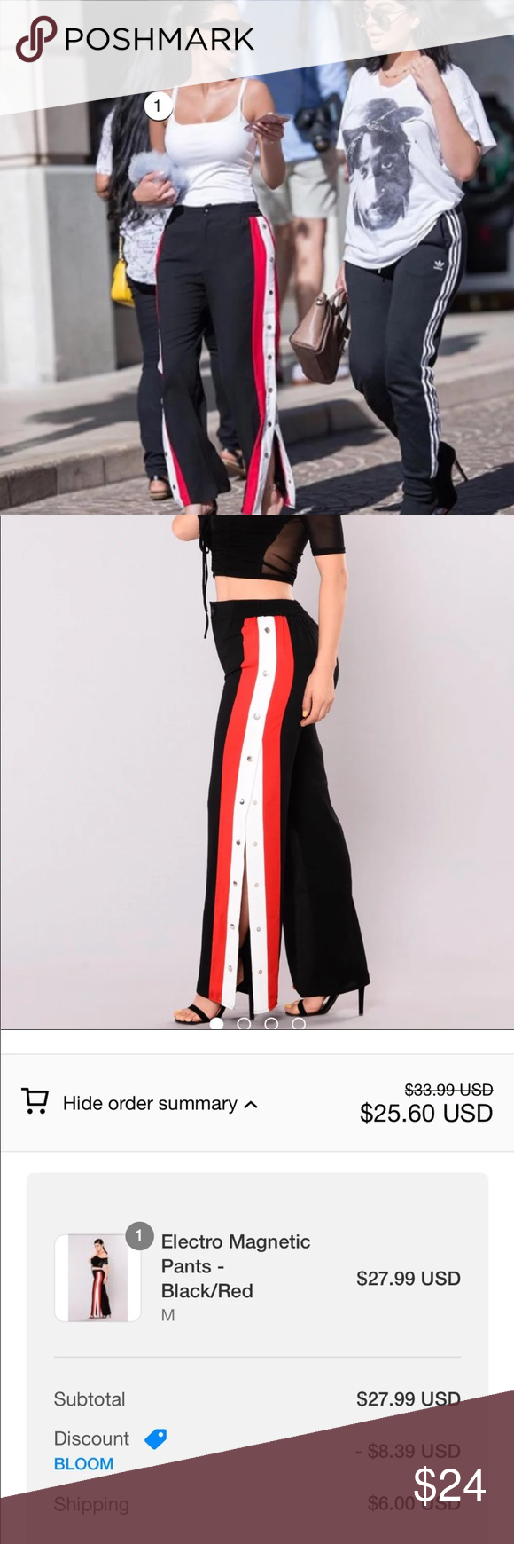 Electro Magnetic Pants Black Red Pants Black Pants Fashion Nova Pants