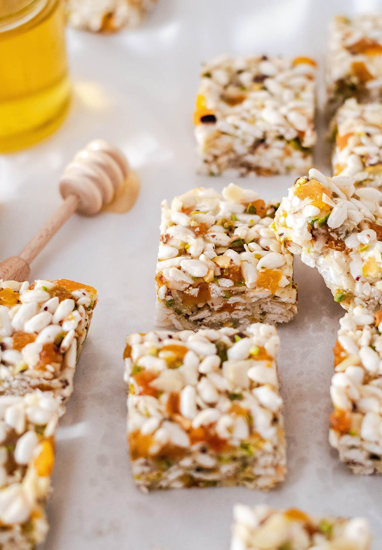 Coconut apricot puffed rice bars | Recipe | Puffed rice ...