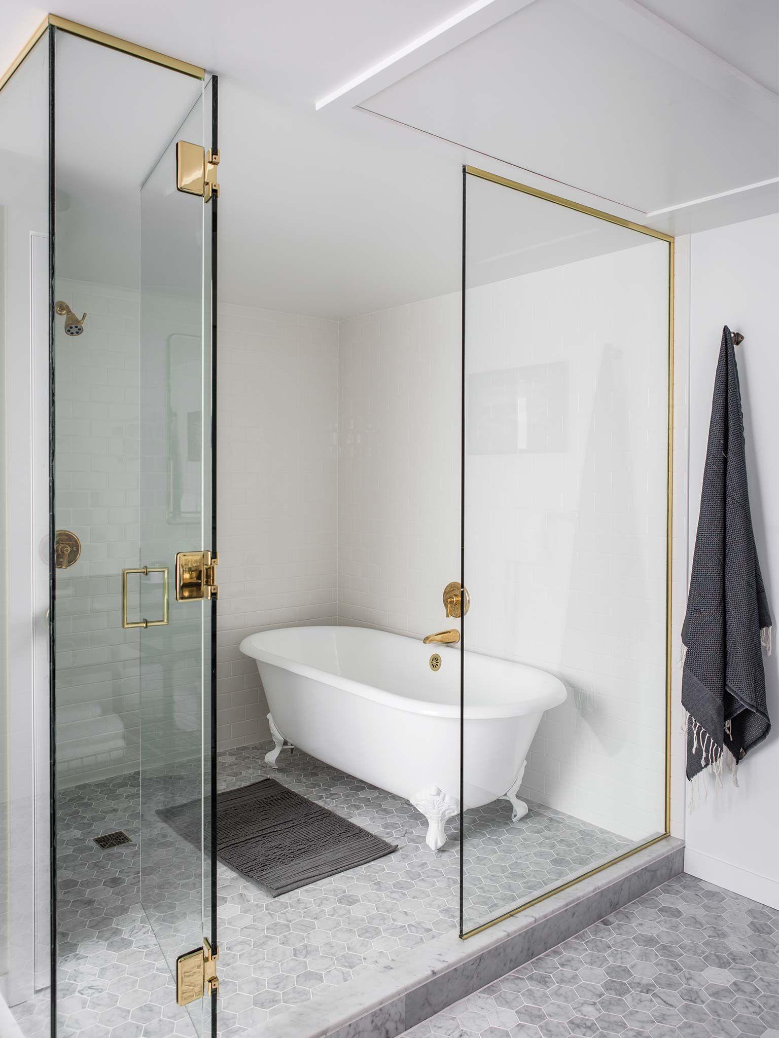 Stand Alone Bath Inside Shower Area | Nicole Hollis. BadezimmerWohnung  BadezimmerHotelbäderBad InspirationEklektische Badezimmer BadezimmerideenDuschen