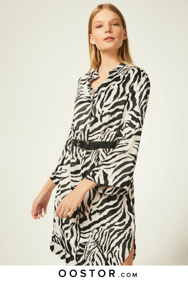 bfadd119f0d Animal Print Shirt Dress in 2019